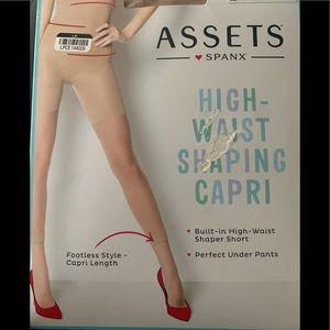 Assets Spanx High Waist Shaping Carpi TAN Size 4